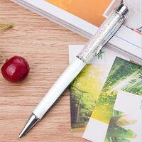 """Ручка шариковая черная """"White Crystal"""" (1,0 мм)"""