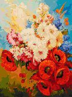 "Картина по номерам ""Цветочная мозаика"" (300х400 мм)"