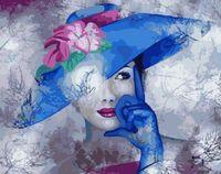 "Картина по номерам ""Дама в синей шляпке"" (400х500 мм)"