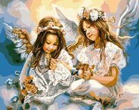 """Картина по номерам """"Два ангела"""" (400х500 мм)"""