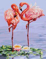 """Картина по номерам """"Розовые фламинго"""" (400х500 мм)"""