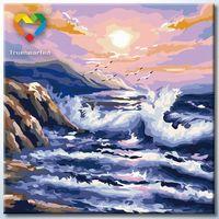 """Картина по номерам """"Волнение океана"""" (400x400 мм; арт. HB4040012)"""