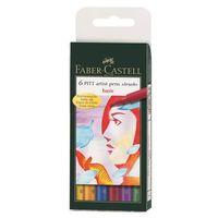 """Набор художественных ручек """"Pitt Artist Pen"""" (цвет: основные цвета; 6 шт.)"""