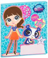 "Тетрадь в линейку ""Littlest Pet Shop"" (12 листов)"