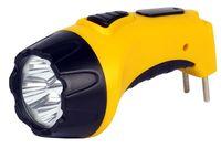 Аккумуляторный светодиодный фонарь 4 LED с прямой зарядкой Smartbuy (желтый)