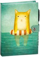 """Блокнот с белой бумагой """"Котик в море"""" нелинованный"""