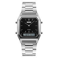 Часы наручные (серебряно-чёрные; арт. 1220)