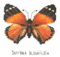 "Вышивка крестом ""Бабочка Нимфалида"""