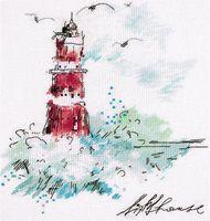 """Вышивка крестом """"Путеводный маяк"""" (200х250 мм)"""