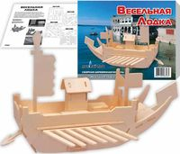 """Сборная деревянная модель """"Весельная лодка"""""""