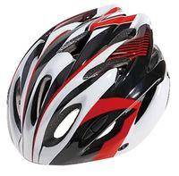 """Шлем велосипедный """"WT-012"""" (чёрный/красный/белый)"""
