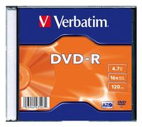 Диск DVD-R 4.7Gb 16x Verbatim Slim