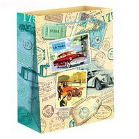 """Пакет бумажный подарочный """"Путешествие"""" (11х14х5 см; арт. 10733078)"""