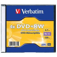 Диск DVD+RW 4.7Gb 4x Verbatim Slim Single