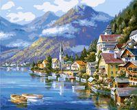 """Картина по номерам """"Хальштадт. Австрия"""" (400х500 мм; арт. PC4050088)"""