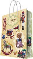 """Пакет бумажный подарочный """"Сказочные игрушки"""" (17,8х22,9х9,8 см; арт. 44184)"""