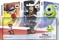 Disney Infinity. Набор 3 персонажа «Добрые герои»: интерактивные фигурки персонажей Майк Вазовски, Барбосса и Миссис Исключительная (PS3 и Xbox 360)