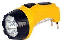 Аккумуляторный светодиодный фонарь 4+6 LED с прямой зарядкой Smartbuy (желтый)