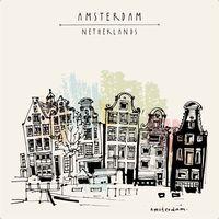 "Репродукция на холсте ""Амстердам. Нидерланды"""
