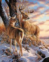 """Алмазная вышивка-мозаика """"В зимнем лесу"""" (380х480 мм)"""