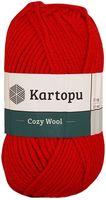 """Пряжа """"KARTOPU. Cozy Wool №K150"""" (100 г; 110 м; красный)"""