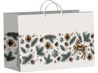 """Пакет пластиковый подарочный """"Коллаж с оленем"""" (45х30 см)"""