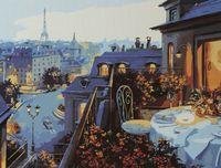 """Картина по номерам """"Ужин в Париже"""" (400x500 мм)"""