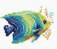 """Вышивка крестом """"Тропические рыбки. Изумрудная"""""""