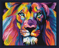 "Картина по номерам ""Красочный лев"" (400х500 мм)"