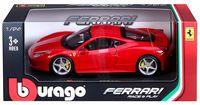 "Модель машины ""Bburago. Ferrari 458 Italia"" (масштаб: 1/24)"