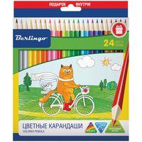 """Набор карандашей цветных """"Жил-был кот"""" (24 цвета)"""