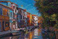"""Вышивка крестом """"Маленькая Венеция"""" (350x235 мм)"""