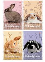 """Блокнот в клетку """"Милые крольчата"""" (А7; 40 листов)"""