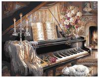 "Картина по номерам ""Композиция с роялем"" (400x500 мм)"