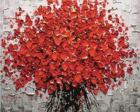 "Картина по номерам ""Красный букет"" (400х500 мм)"