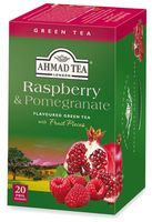"Чай зеленый ""Ahmad Tea. Raspberry and Pomegranate"" (20 пакетиков)"