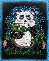 """Вышивка пайетками """"Панда"""" (240х300 мм)"""