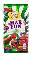 "Шоколад молочный ""Alpen Gold. Max Fun. Ягодный микс"" (150 г)"