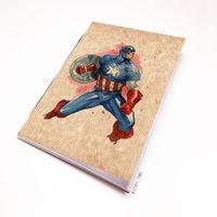 """Блокнот крафт """"Капитан Америка"""" А6 (221)"""