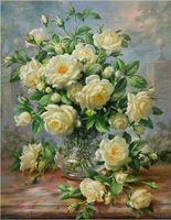 """Алмазная вышивка-мозаика """"Кустовая роза"""" (500х640 мм)"""
