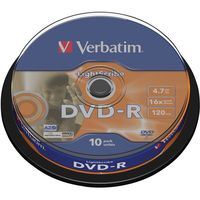 Диск DVD-R 4.7 Gb16x Light Scribe CakeBox 10