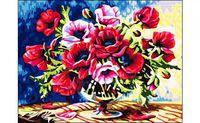 """Картина по номерам """"Красные цветы"""" (400x500 мм)"""