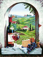 "Картина по номерам ""Тосканский вид"" (280х360 мм; арт. 91441-73-DMS)"