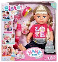 """Интерактивная кукла """"Baby Born. Сестричка"""""""
