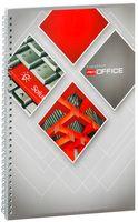 "Тетрадь на спирали в клетку ""Red Office 2"" (А4; 90 листов)"
