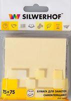 """Бумага для заметок """"Silwerhof"""" (75х75 мм; желтая)"""