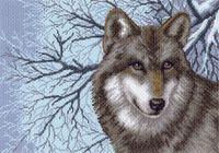 """Канва с нанесенным рисунком """"Волк"""" (арт. 1538)"""