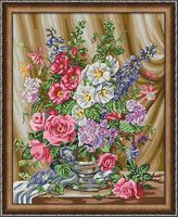 "Картина по номерам ""Букет с мальвами"" (400х500 мм)"