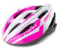 """Шлем велосипедный """"WT-040"""" (чёрный/розовый/белый)"""