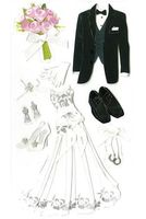 """Стикеры для скрапбукинга """"Джоли бутик. Жених и невеста"""" (арт. EKS-SPJBLG492)"""